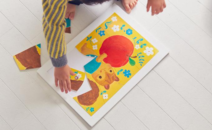 【1日10分遊び】絵本作家かとーゆーこさんのパズルイラスト<2016.10月号>