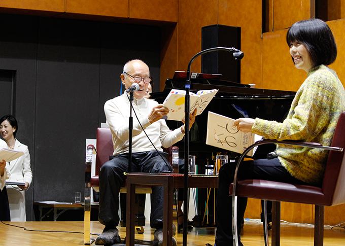 音を奏でる絵本2冊を刊行! 谷川俊太郎さんと俵万智さんの朗読ライブ