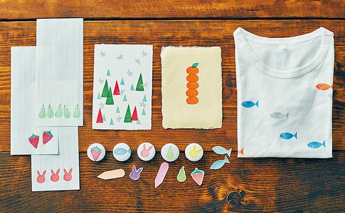クリスマスカードや年賀状にも。「消しゴムはんこ」でパターンあそび 後編