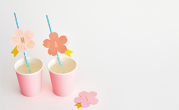 おうちでのお花見気分が華やぐ桜のストローマーカーを手づくりしよう!【ハハコで楽しむ季節の暮らし・手づくり歳時記~4月~】
