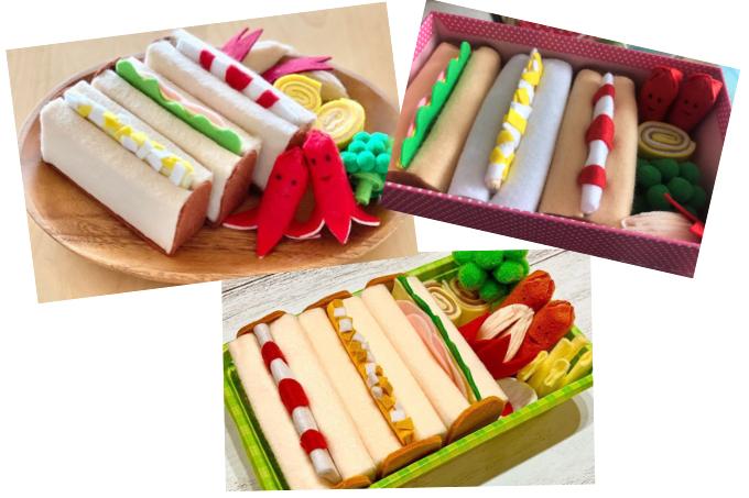 簡単!かわいい♪縫わずにできる「フェルトで作るサンドイッチBOX」の投稿をご紹介
