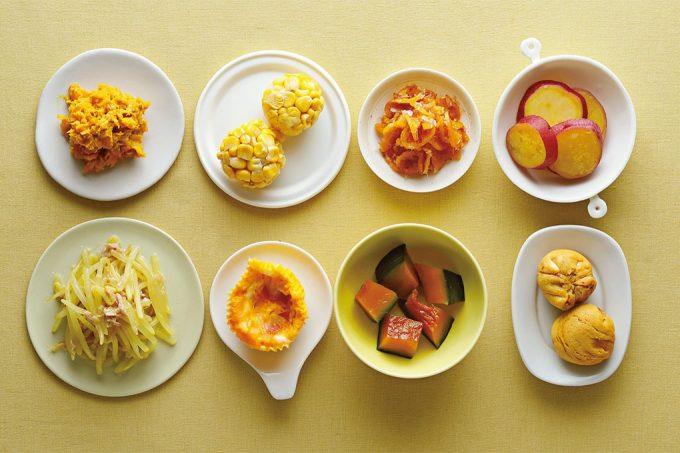簡単・便利な副菜が勢ぞろい!電子レンジ調理OKのミニおかず ~茶・黒・黄色のおかず~