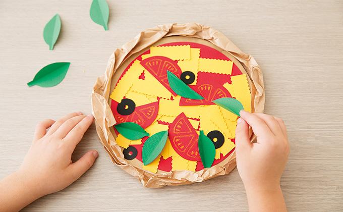 段ボールや画用紙で工作しよう!「マルゲリータピザ」の作り方【最新号からちょっと見せ】
