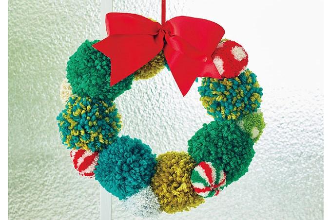 リース・オーナメント・ガーランド♪「ふわもこポンポン」で作るクリスマスアイテム