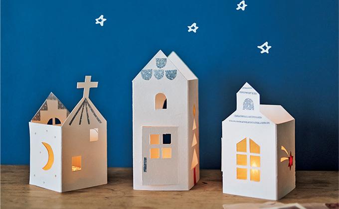 簡単かわいいクリスマスクラフト「おうちのランタン」の作り方【最新号からちょっと見せ】