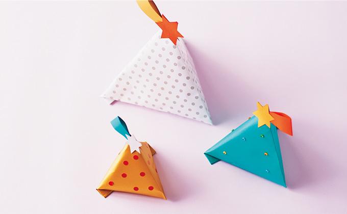 杉浦さやかさんに教わるプチプラ・クリスマスラッピング♪「テトラツリー」の作り方【最新号からちょっと見せ】