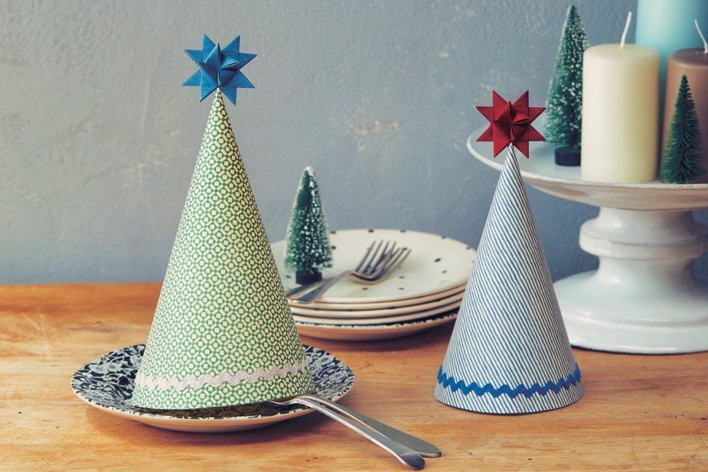 パーティー帽にもなるクリスマスツリーの作り方【型紙ダウンロード付き】