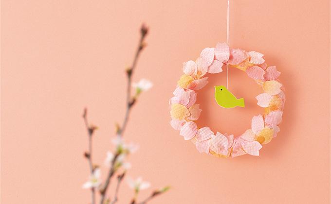 中川政七商店とつくる、桜の手染めリース【最新号からちょっと見せ】