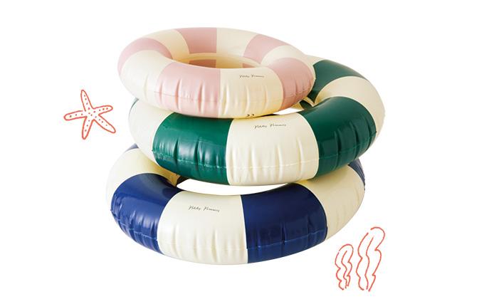 ヴィンテージ色がポイントのおしゃれな「浮き輪」に注目!【「かうめも」2021年6月号】